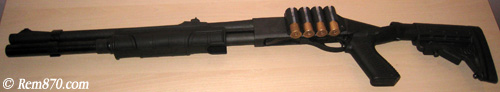 Tactical Remington 870 with TacStar Side Saddle