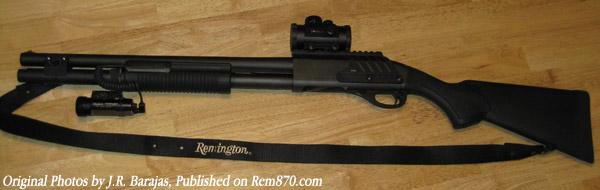 Tactical Remington 870 Shotgun