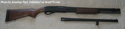 Remington 870 Shotgun with Barrel