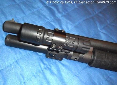 Remington 870 with Surefire G2 LED Nitrolon Flashlight