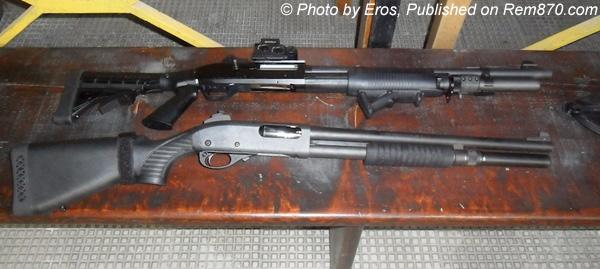 Benelli M3 and Remington 870