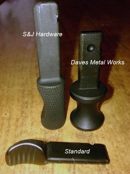 Charging Handles: Standard, S&J Hardware, Daves Metal Works