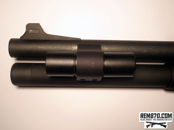 FAB Defense Speedlight Flashlight on CDM Gear Clamp on Remington870