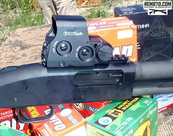 Eotech XPS Holographic Sight on Mossberg 590 Shotgun