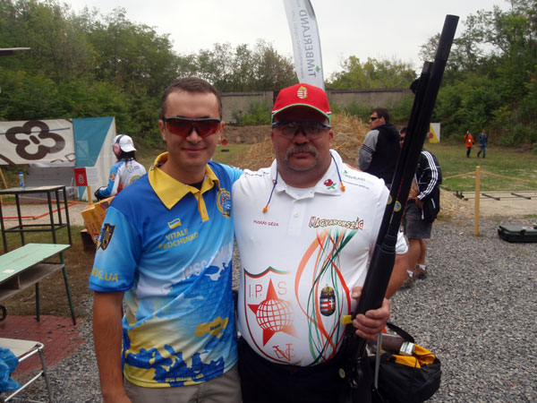 Vitaly Pedchenko and Geza Puskas  (One of the Organizers of the World Shotgun Championship 2012