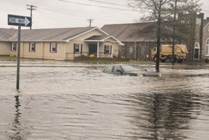 Hurricane Sandy Flooding Crisfield, Md. Photo by Maryland National Guard