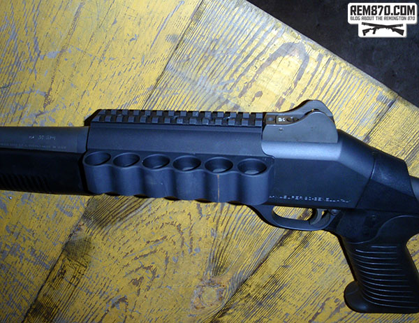 Mesa Tactical Sureshell Holder on Benelli M4
