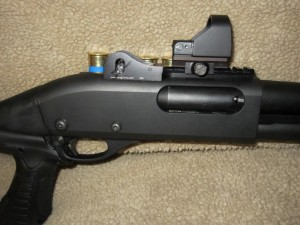 Remington 870 with Knoxx Stock, PowerPak, Eotech Sight and Ghost Ring Sights