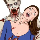Zombie with Hostage Shooting Target
