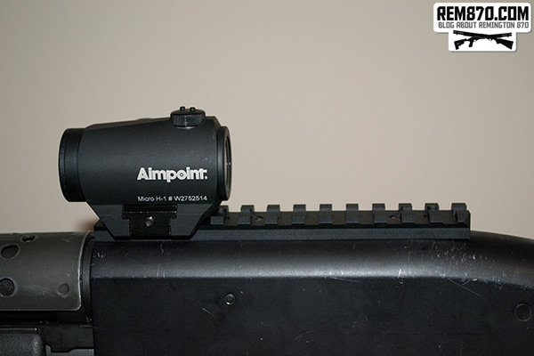 Aimpoint H1 Holographic Sight on Shotgun