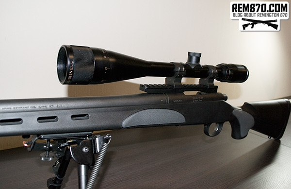 Remington 700 with Picatinny Rail from S&J Hardware and Bushnell Scope