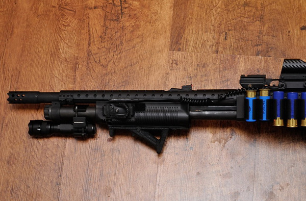 Remington 870 with Heatshield, FAB Defense Forend and Magpul AFG