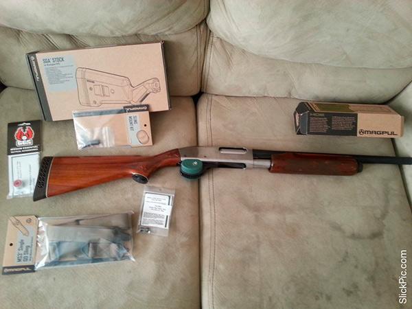 Remington 870 with Magpul Upgrades