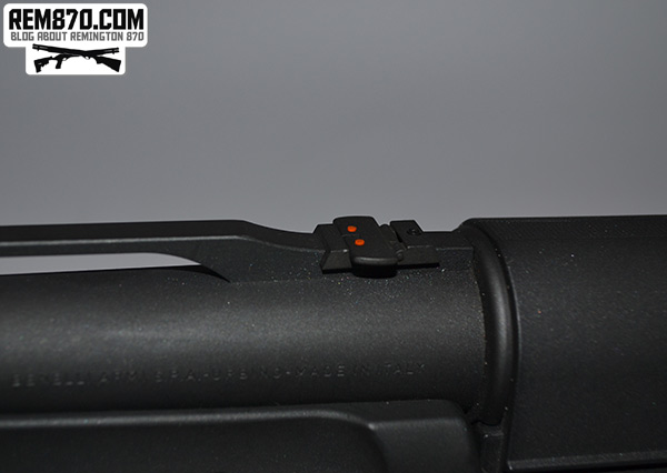 Benelli Supernova - Additional Rear Sight Folded