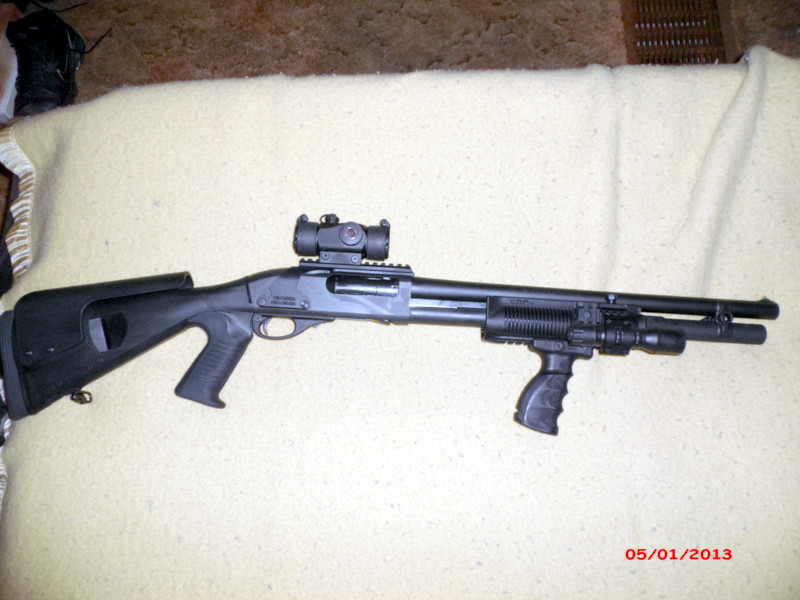 Remington 870 with Mesa Tactical Urbino Stock