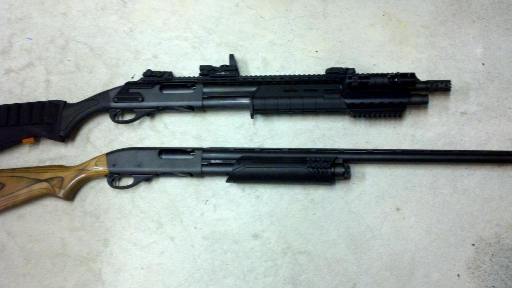 Remington 870 Tactical and Remington 870 Classic