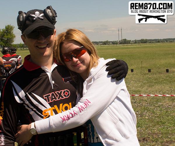 With My Wife on Shooting Range