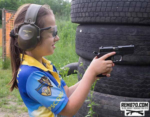 Anastasiia with Handgun