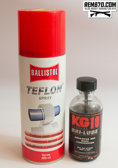 Dry Lubricants for Firearms: Ballistol Teflon and KG10 Dri Lube