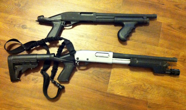 Short Barreled Shotgun and AOW 870, 14 inch barrels