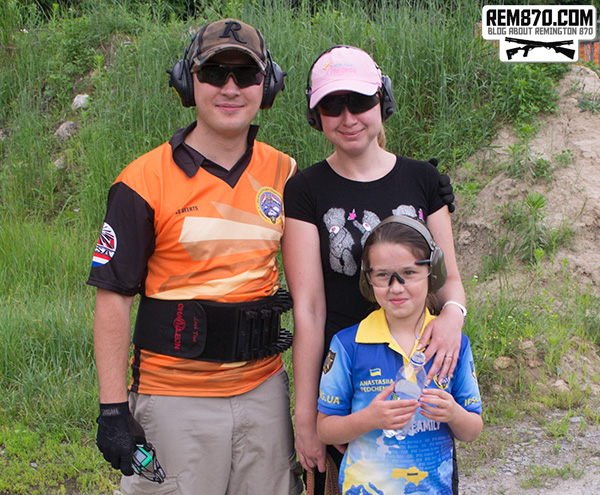 Family Day on the Range: Vitaly, Nataly, Anastasiia