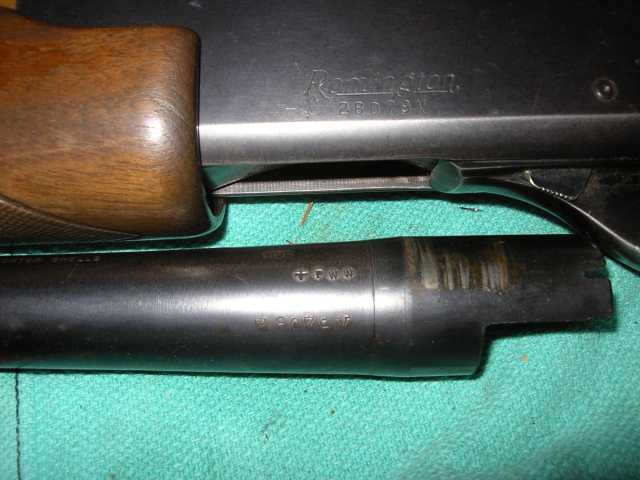 Remington 870 Serial Number on the BARREL