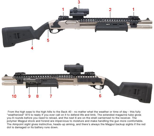 """""""Weatherized"""" Remington 870 - Dream Gun"""