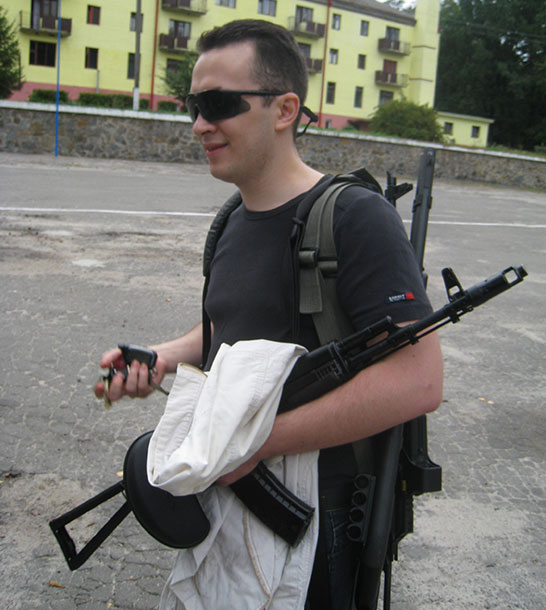 Vitaly with AK-47