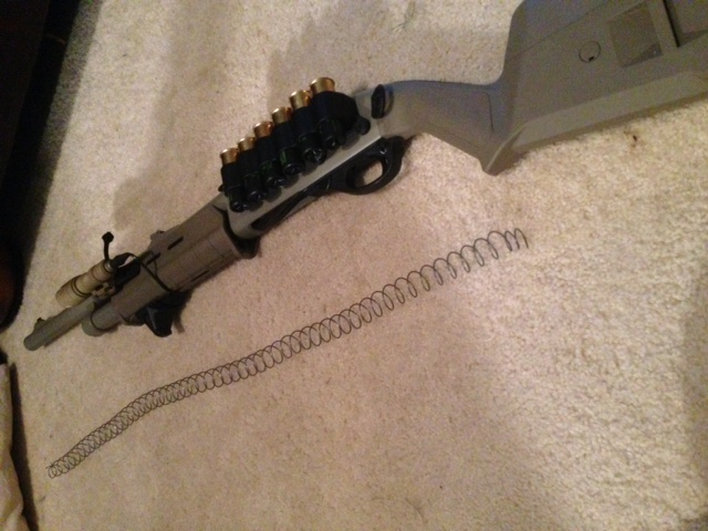 Duracoated Remington 870 with Magpul Stock and Forend