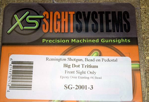 XS Remington 870 Pedestal Big Dot Tritium Sight Package