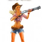 Rem870.com Cowgirl with Remington 870 Shotgun