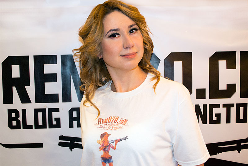 Nataly in Rem870.com T-Shirt