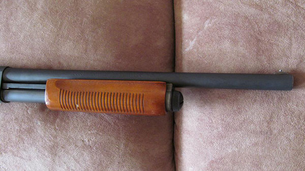 Remington 870 Forend Before Restoration
