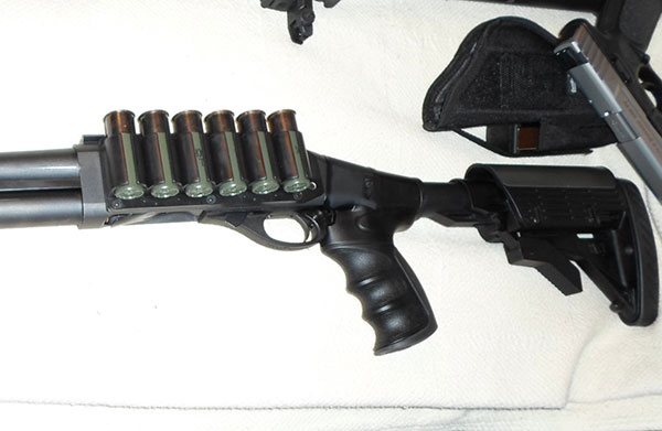 Remington 870, ATI Stock, FAB Defense Forend, TacStar Sidesaddle