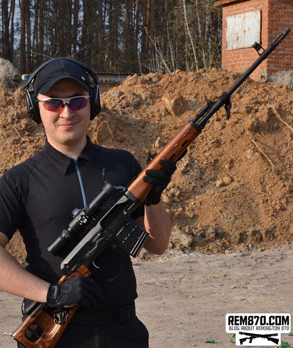 Vitaly with Dragunov Sniper Rifle