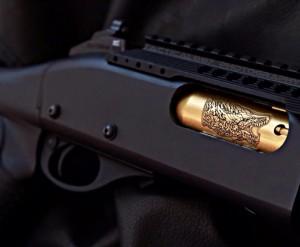 Remington 870 Engraved Gold Bolt