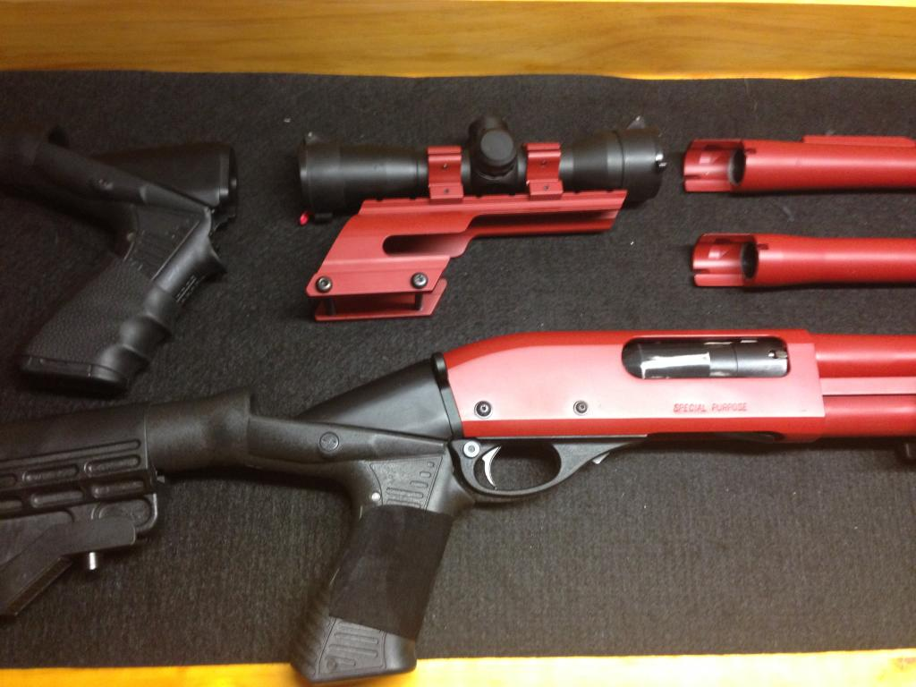 Remington 870 Painted Red