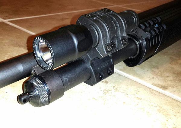 Remington 870 with Elzetta Flashlight Holder