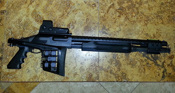 Remington 870 with Folding Stock and Eotech Holographic Sight