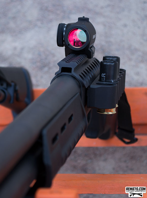Aimpoint on a Remington 870 Shotgun