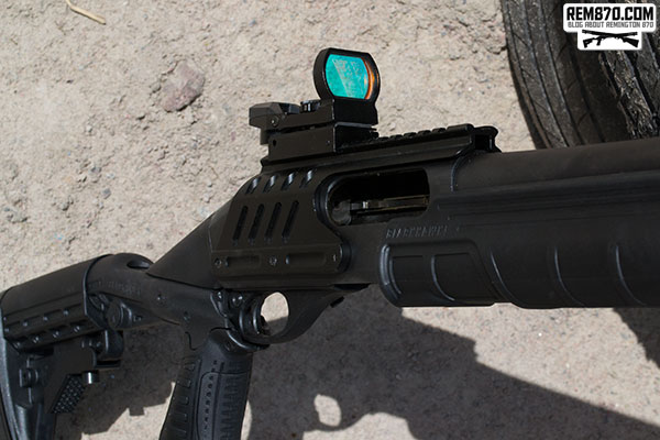 Open Red Dot Sight on Remington 870