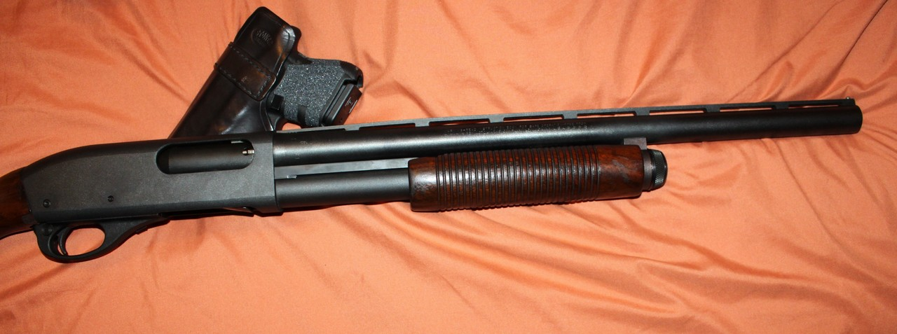 Older Law Enforcement Remington 870 with Wood Stock and Forend