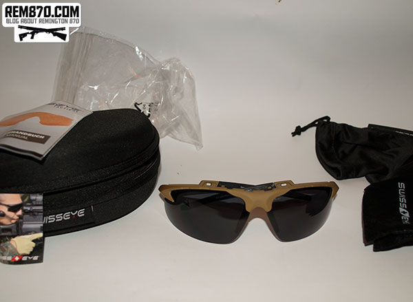 Swiss Eye Shooting Sunglasses Ballistic Glasses Black with 3 Lenses