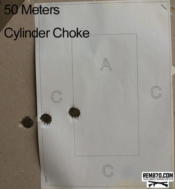 Shooting Slugs on 50 Meters with Cylinder Choke