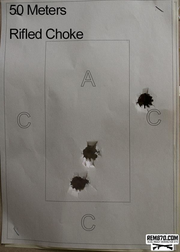 Shooting Slugs on 50 Meters with Rifled Choke