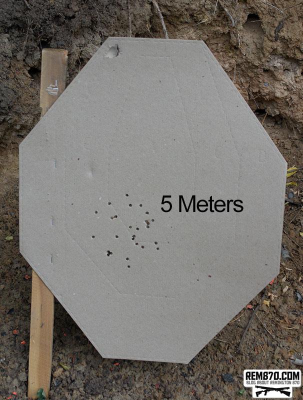 Remington Express Power Pakt Buckshot Pattern