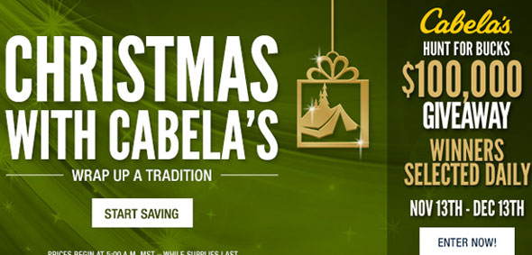 Cabela's Holiday Deals