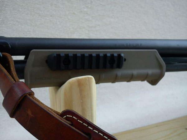 Remington 870, Magpul Forend with Rail, Stock, Mesa Sidesaddle