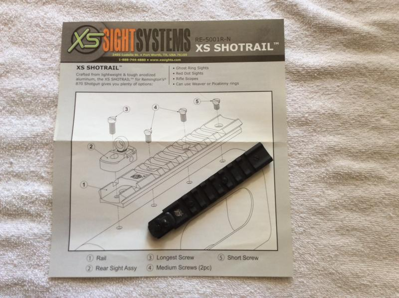 XS Sights Shotrail with a Picatinny Rail