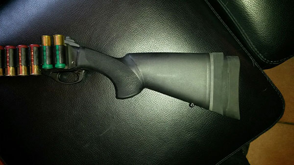 Remington 870 Hogue Stock, LOP